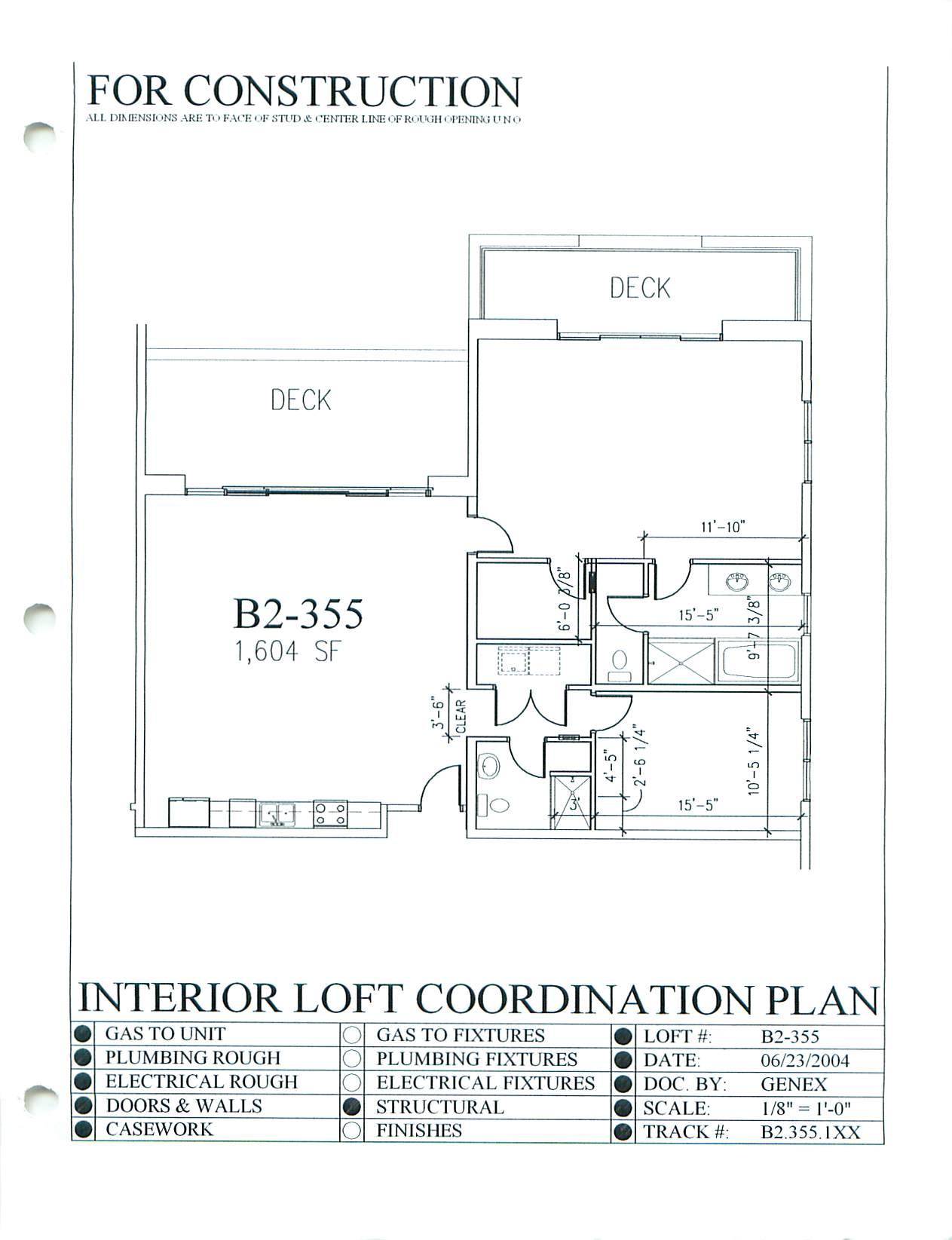 Rivergate B2-355 - Floor Plan